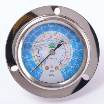 Манометр 63 мм R404a, R22, R134a, R407c  низкого давления с глицерином (10884)