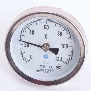 Термометр ТБ-63 50 0+120-2,5-О ТУ У33.2-14307481-033:2005 (9169)