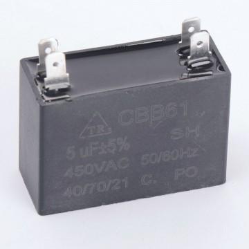 Конденсатор 5 мкф 450v CBB61 клеммы (008963)