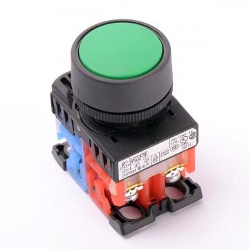 Кнопка без фиксации AR22FOR зеленый (9948)