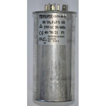 Конденсатор 80+10 мкф 370v (9644)