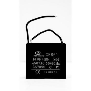 Конденсатор 16 мкф 450v CBB61A гибкие выводы (10415)