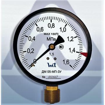Манометр ДМ 05-МП-ЗУ 100-1,6МПа-1,5 ТУ У 33.2-14307481-031:2005 (9480)